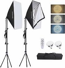 """کیت روشنایی سافت باکس Inkeltech - 50W E27 3000-6500K Dimmable Light LED Color photography with 20 """"x27"""" Softbox and Light Stand، تجهیزات حرفه ای استودیو برای فیلمبرداری و فیلمبرداری - کنترل از راه دور"""