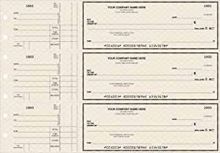 General Manual Business Checks, 3 to a Page Tan Marble Multipurpose Checks, 250 Single Checks