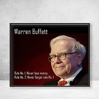 Warren Buffet Rules of Investing Poster Print Wall Art Decor Handmade (Never Lose Money)
