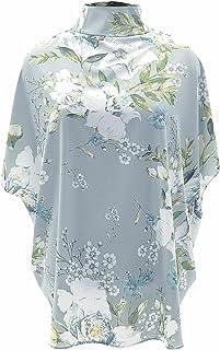 Wisell Blouse met korte mouwen, alledaagse blouse met bloemenprint en opstaande kraag, geen/niet relevant