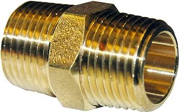 LASCO 17-8669 3/4-Inch Male Pipe Thread Brass Hex Nipple