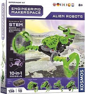 KOSMOS 665135 Engineering Makerspace – Alien Robots, bygga 10 rymdrobotar, experimenteringsset för barn från 8 år, flerspr...