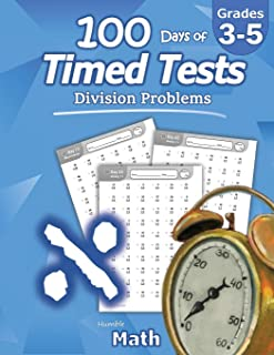 Sponsored Ad - Humble Math - 100 Days of Timed Tests: Division: Grades 3-5, Math Drills, Digits 0-12, Reproducible Practic...