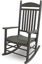 POLYWOOD J147GY Jefferson Rocking Chair Rocker, Slate Grey