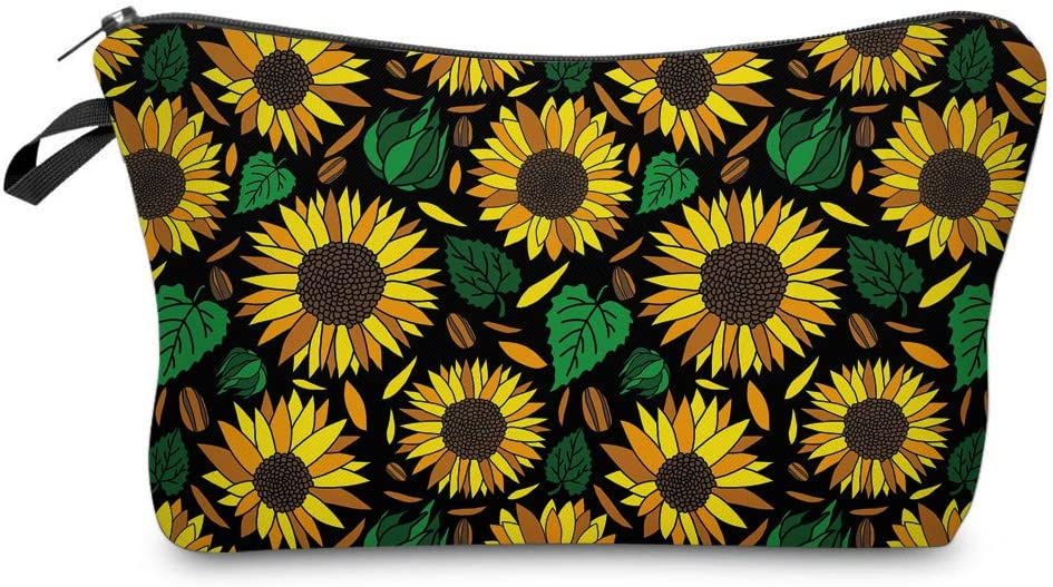 Vghow Makeup Bags , Cute Travel Waterproof Cosmetic Pouch Toiletry Bag Accessories Organizer Sun Flower Gift