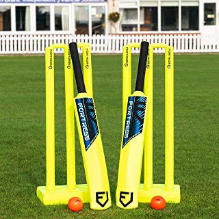 Net World Sports Backyard Cricket Sets   Kwik Cricket   Bats, Stumps, Bails, Balls and A Carry Bag [3 Sizes]