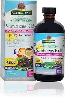 Nature's Answer Sambucus Kids Formula, Alcohol Free, 8 Oz (Pack of 1)