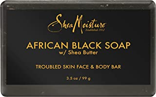 Shea Moisture African Black Soap Acne Prone Face and Body Bar, 99 g