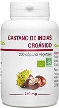 Castaño de Indias Orgánico - Aesculus hippocastanum - 250mg - 200 cápsulas vegetales