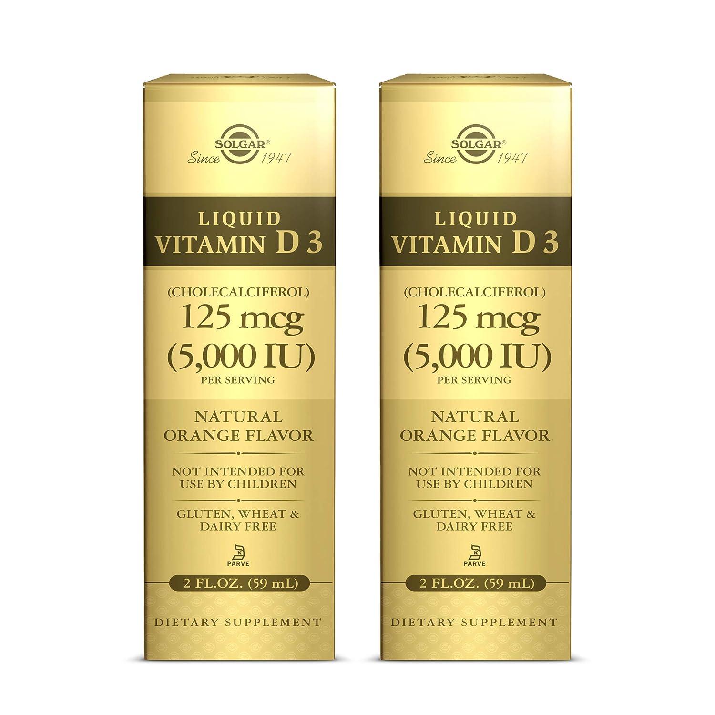 Solgar Liquid Vitamin D3 Spasm price 125 mcg 5 000 fl IU 2 Spring new work oz Pack of -