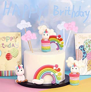 Sunshine smile Rainbow Cake Toppers,Arco Iris Decoración de