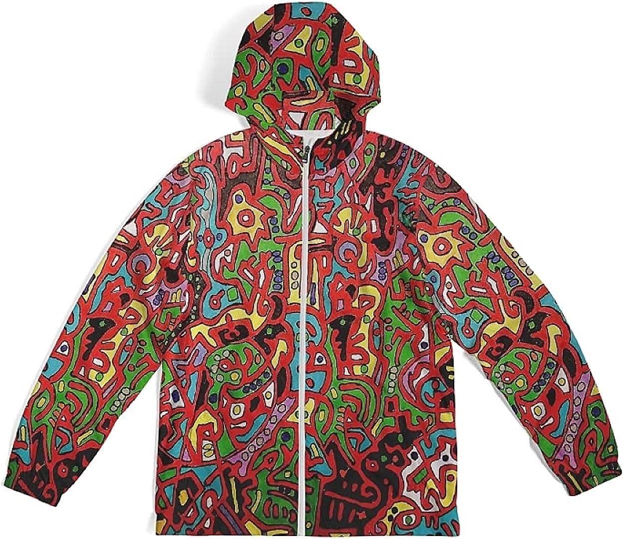 Men's Packable Rain Jacket Waterproof Windbreaker Lightweight Raincoat with Hood