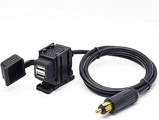 Cllena Hella DIN Powerlet Plug to Dual Port USB Charger Socket for Phone iPhone iPads GPS SatNav