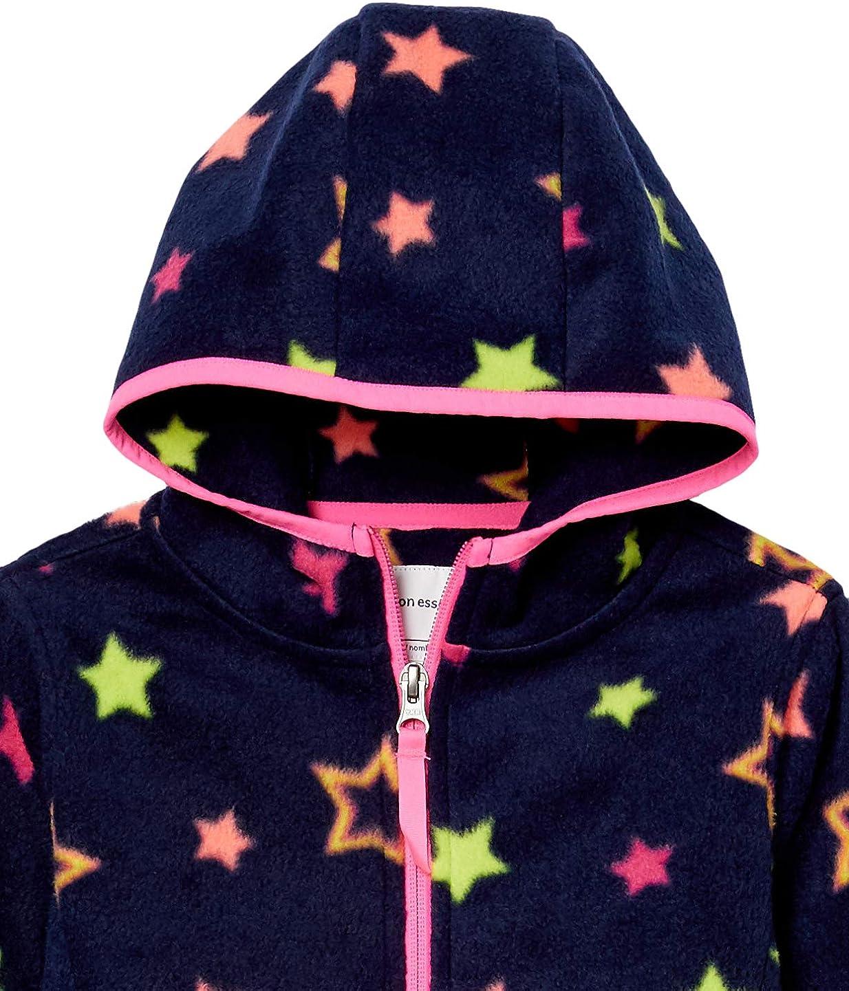 Essentials Girls Polar Fleece Full-Zip Hooded Jacket
