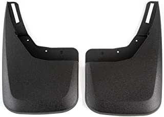 Red Hound Auto Compatible with Chevy Silverado 1500 (2014-2018 & 2019 1500LD), 2500 3500 (2015-2018) Molded Splash Mud Flaps Custom Fit Rear Only 2 Piece Set Pair