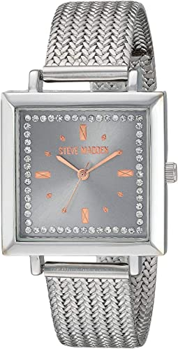 Square Case Ladies Alloy Band Watch SMW182