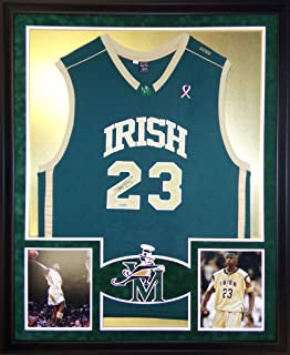 LeBron James St. Vincent St. Marys Autograph Signed Custom Framed Jersey UDA Upper Deck Authenticated Certified