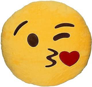 emoji pillow kissy face
