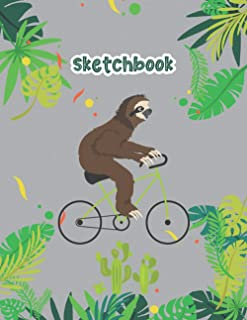Sloth Sketchbook: Motivational sketch drawing notebook, journal, amazing cover design funny animal art gifts for sloth cyc...