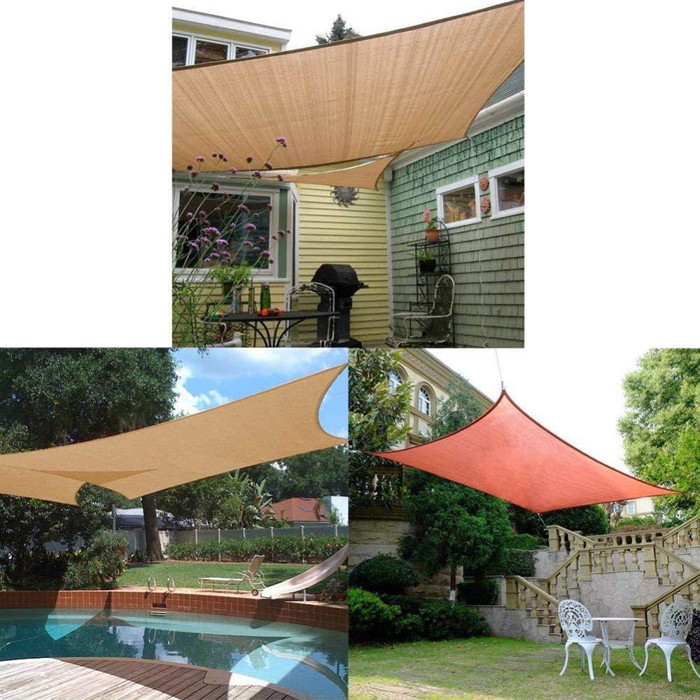 Lona Impermeable Toldo Parasol Parasol Toldo Sombra para Patio Jardín De Césped Piscina Al Aire Libre Piscina Pergola Gris,Gray: Amazon.es: Hogar