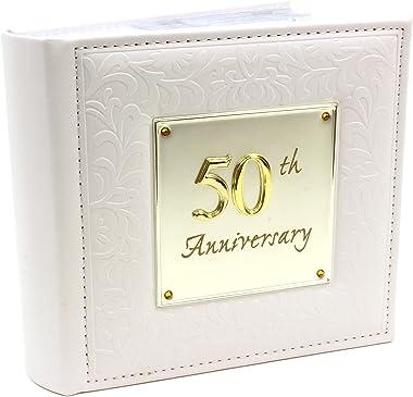 "Photo Album 50th Wedding Anniversary Memories Occasion Shudehill Hold 80 4"" X 6"""