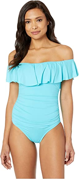 9983a144cf102 La blanca flora garden off the shoulder one piece | Shipped Free at ...