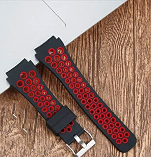 Dado Silicone band special Huawei GT2 PRO watch, double color silicone strap, gt2 pro watch band (Black Red)
