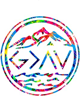 God is Greater Than My Highs and Lows Decal, God is Greater, Yeti, Water Bottle Decal - Car Window, Laptop, Tumbler - Choose Size & Color