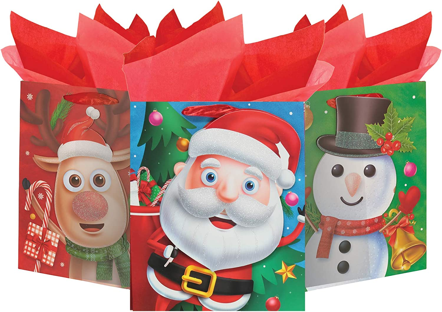 Mega Pack Xmas Gift Bags - Character Boston Mall Gi Deluxe Holiday Traditional