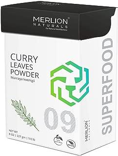 Curry Leaves Powder by Merlion Naturals | Murraya koenigii | 227gm/ 8OZ/ 1/2lb | 100% Natural