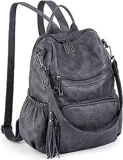 grey pu backpack
