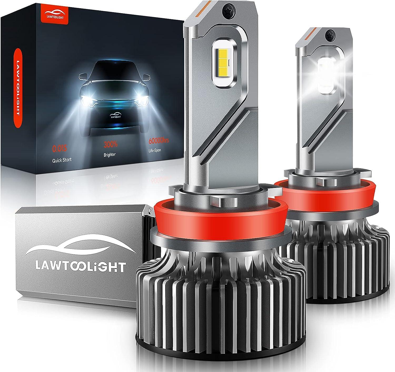 LAWTOOLIGHT 2-Pack  80W 15000 Lumens H11/H9/H8 LED Headlight $23.79 Coupon