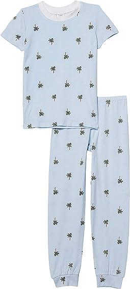 Crew Short Sleeve Top & Pants Set (Little Kids)