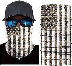 DANCSS Unisex Seamless Bandana,Face Mask Multifunction Neck Gaiter Headwear, Flag Pattern