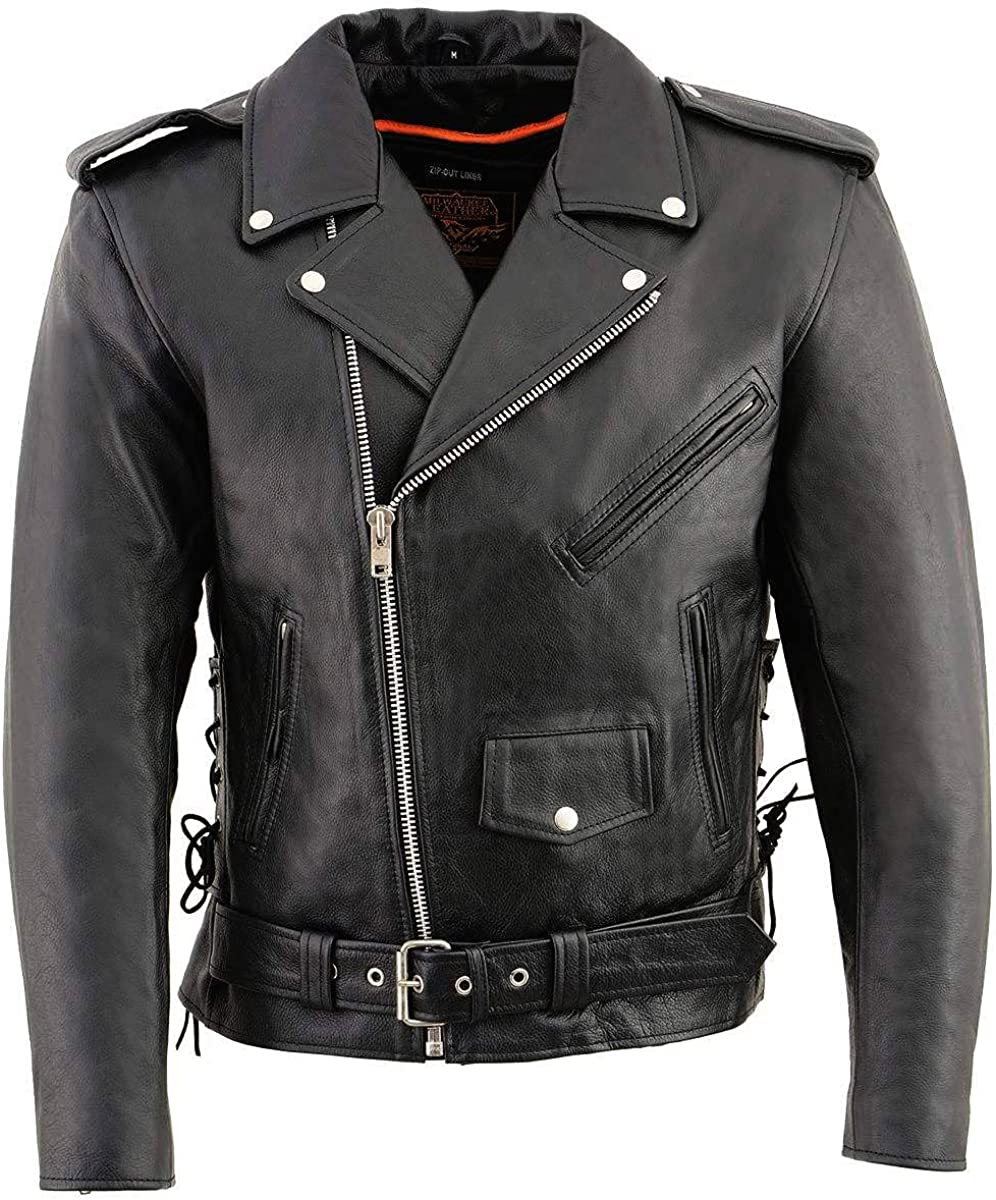 Milwaukee Leather SH1011 Men's Complete Free Shipping Classic Lace Style Mo Police Popular product Side