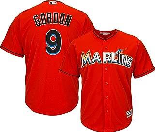 Outerstuff Dee Gordon Miami Marlins MLB Majestic Youth 8-20 Orange Alternate Cool Base Replica Jersey