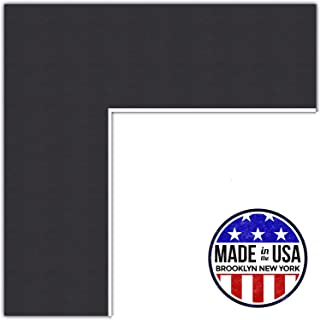 22x28 Smooth Black / Black Custom Mat for Picture Frame with 18x24 opening size (Mat Only, Frame NOT Included)