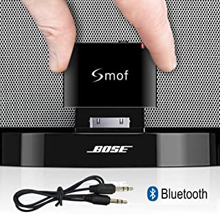 Smof Lite 30 Pin Wireless Audio Receiver for Sounddock,30 Pin Bluetooth Adapter Replace for iPod/Phone Link Bose/JBL/Car, 3.5 mm AUX Output-Female