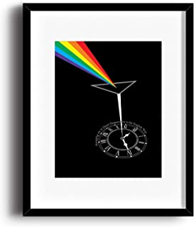 Pink Floyd Song - Time - Music Lyric Poster Illustration - Visual Wall Art Print Decor