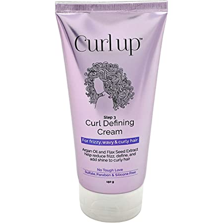 Curl Up Curl Defining Cream- Leave in conditioner/Cream for Frizzy, Wavy and Curly Hair - 150 Gm