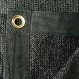 FJYW Premium Sail Sun Shade Cloth, 6'x 20', Negro