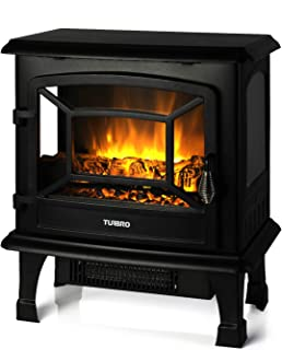 TURBRO Suburbs TS20 Electric Fireplace Heater, Freestanding Fireplace Stove with Realistic Flame Effect - CSA Certified - Overheating Safety Protection - 20