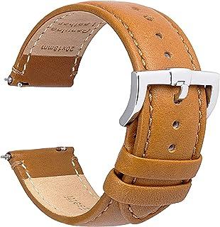 Bracelets de Montre en Cuir à Libération Rapide - Bracelets de Remplacement pour Montres en Cuir Supérieur pour Hommes et ...