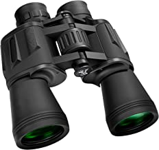 GLANDU 10 x 50 Binoculars BAK-4 Porro Prism FMC for Adults Professional High Magnification HD Waterproof Abrasion Rubber B...