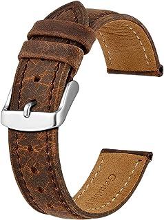 BISONSTRAP Cinturini Orologio, Cinturini di Ricambio in Pelle Vintage, Larghezza Cinturino 14mm 15mm 16mm 17mm 18mm 19mm 2...