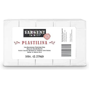 Sargent Art Plastilina Modeling Clay, 5-Pound, White