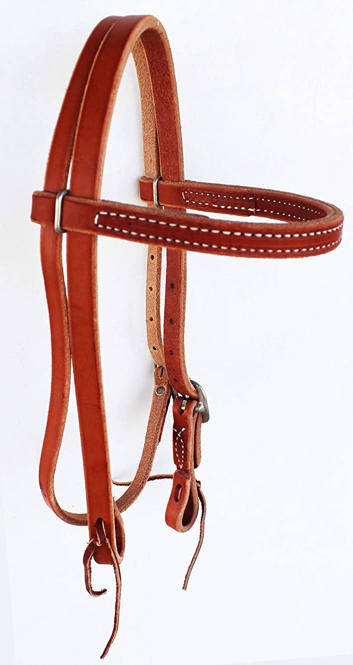 Pony Western Amish Made in USA Hermann Oak Leather Browband Headstall 975P600