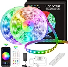 LED Strip Lights, 50ft/15M 5050 RGB 270 LEDs Strip Lights Non-Waterproof Rope Music Sync DIY Colors Changing Timing with I...