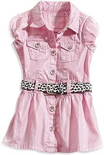 Kids Baby Girl Belted Shimmer Dress (12-24M)
