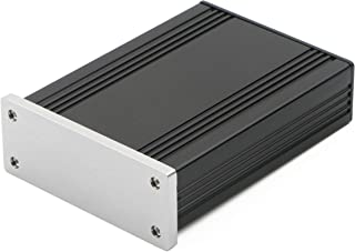 JIUWU Brushing Silver Panel Aluminum Enclosure Project Box Electronic Enclosure Case for Amplifier PCB Board DIY, 82.8x28....